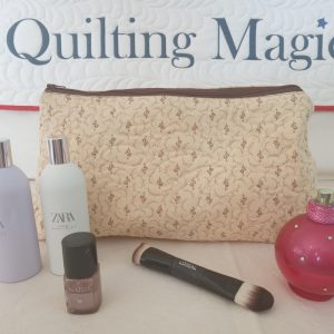 Make up bag- yellow fern