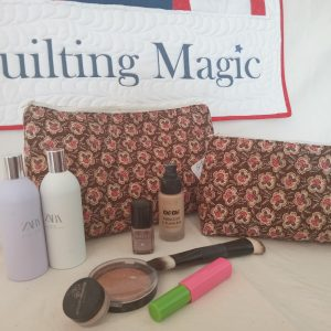 Make up bag-brown rose set