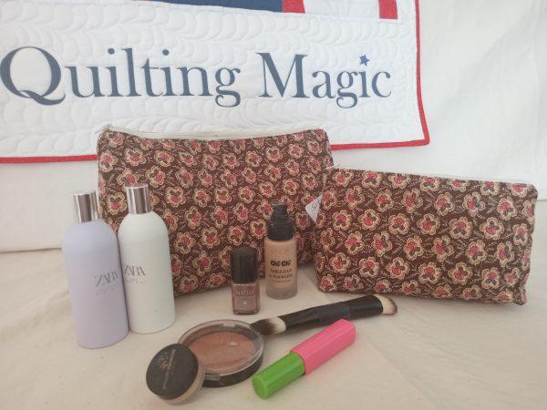 Make up bag-brown rose set