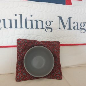 Bowl holder – reversible marron paisley