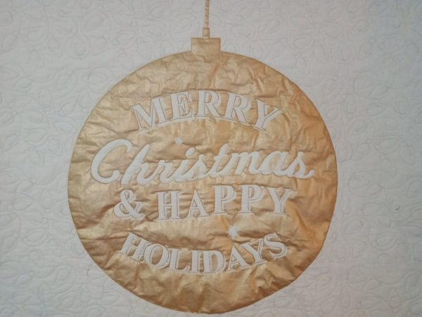 Gold Christmas bauble wallhanging 43x38inch