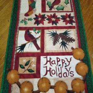 Happy holidays wall hanging 105cm x 60cm. $55.00