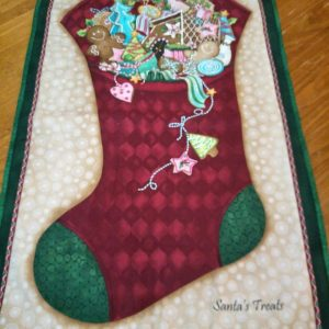 Santa's Treats wall hanging 105cm x 60cm