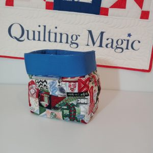 Square fabric storage box, NZ, 7x7inch
