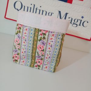 Square fabric storage box, floral, 7x7inch