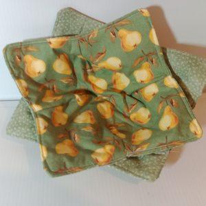 Bowl holder – reversible, pears 8x8