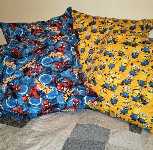 Spiderman & Minions 20×20 pillows with inner $30